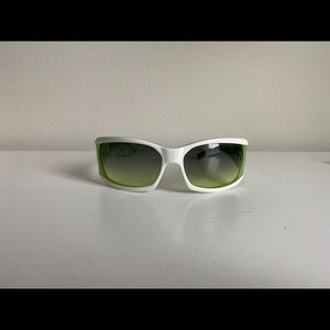 Lacoste white and green sunglasses with case